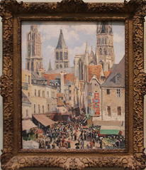 Camille Pissarro - Rue de l'Epicerie, Rouen (Effect of Sunlight) 1898 (ahisgett) Tags: new york art museum met metropolitian