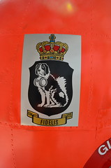 Flugzeugmuseum Stauning Dnemark (bunkertouren) Tags: dog signs schilder sign museum aircraft air cockpit helicopter schild hund flugzeug dnemark turbine hubschrauber zeichen wappen flugzeuge bernhardiner skjern triebwerk stauning