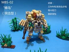 MBS-02V1Hummingbird(assault type) (CAT WORKER) Tags: lego military mech moc