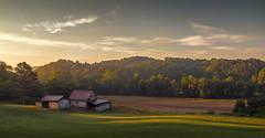 Farm In Morning Light (shutterclick3x) Tags: barn sunrise landscape dawn countryside farm frankloose