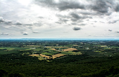 up pretty high. (-gregg-) Tags: view fields clouds sky mountains high rock maryland horizon hike trees beautiful storm houses nikon d7100