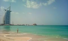 Burj Al Arab Jumeirah - Dubai (Mayur Shivz - Out and about casual photography) Tags: jumeirah beach dubai turquoise water sand holiday united arab emirates seascape