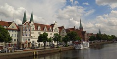 An der Trave, Luebeck (langkawi) Tags: church town spires luebeck lbeck hansestadt trave hanseatic kirchtrme