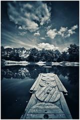 Blue Lake (asterfred71) Tags: blackandwhite lake landscape pond noiretblanc lac wideangle tokina uga paysage pontoon tang grandangle d7100 1120mm viragepartiel nikond7100