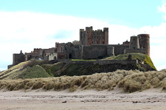 Bamburgh Castle, Northumberland (Hairy Caterpillar) Tags: beach coast northumberland bamburghcastle
