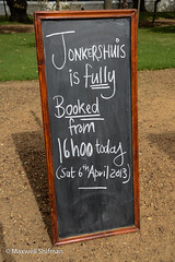 Jonkershuis if fully booked