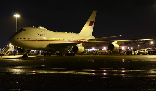 BAHRAIN BOEING 747SP PARKED UP FOR A FEW NIGHTS