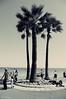 Street photography on the Promenade des Anglais (French Riviera). (Chris, photographe de Nice (French Riviera)) Tags: sea urban blackandwhite bw france beach pentax streetphotography photographers frenchriviera photonoiretblanc