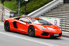 Lamborghini Aventador LP700-4 (- Icy J -) Tags: morning italy orange cars car hongkong drive cool md awesome sunday fast hong kong exotic supercar smd