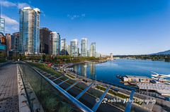 Vancouver Harbour (Bob Ell - Roshine Photography) Tags: waterfront leadinglines buildingsandstructures vancouvertrek