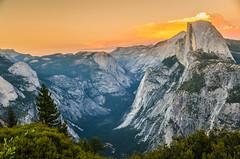 Yosemite's Half Dome at sunset (robbar74) Tags: california sunset landscape nikon tramonto halfdome yosemitenationalpark d7000 mygearandme mygearandmepremium mygearandmebronze mygearandmesilver mygearandmegold mygearandmeplatinum mygearandmediamond vigilantphotographersunite vpu2 vpu3 vpu4 vpu5 vpu6 robbar74