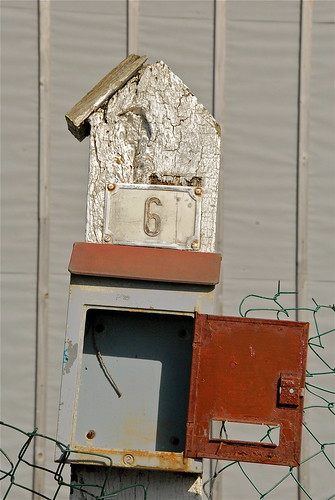 LETTER BOX OF AN ABANDONNED HOUSE:ASNELLES-NORMANDY-FRANCE 2013
