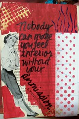 Eleanor Roosevelt Quote (artsychicksw) Tags: red black art altered vintage mixed women media journal journaling