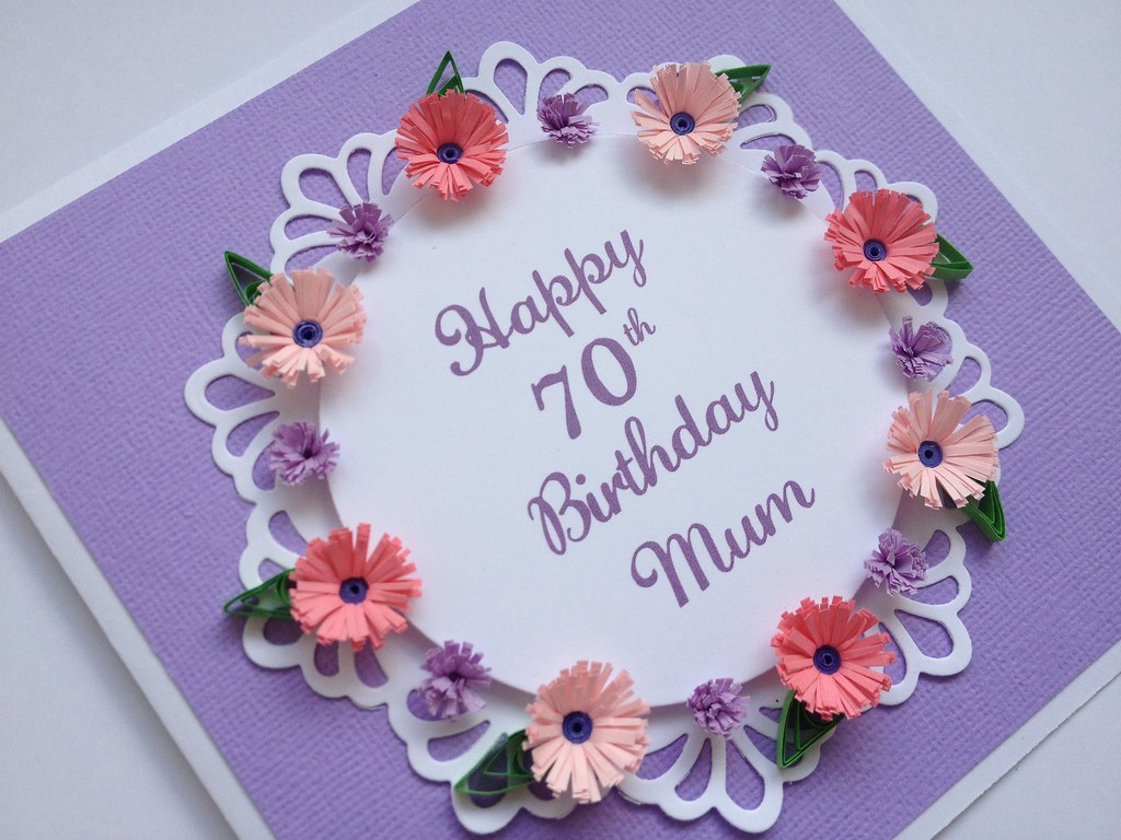 Paper Quilling Birthday Cards For Mother Mom Birthday Card Handmade