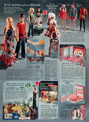 1972 Sears Wish Book page432 (pippaandpom_Blythe) Tags: vintage sewing sears barbie vintagefabric vintagetoys barbiehouse searswishbook talkingbarbie matteltoy busybarbie sleepnkeepbarbiecase