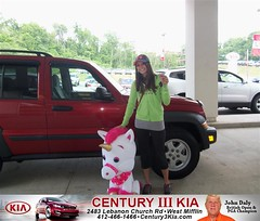 Century 3 Kia would like to say Congratulations to Shirley Burd on the 2006 Jeep Liberty from William Beu (Century 3 KIA) Tags: new 3 west car century sedan truck wagon happy pittsburgh pennsylvania used vehicles pa delivery bday kia van minivan suv coupe dealership hatchback dealer customers mifflin shoutout 4dr 2dr preowned