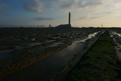 Grain power station (sky-NEX) Tags: coast sony estuary lowtide mudflats powerstation medway causeway isleofgrain nex6 sonynex6