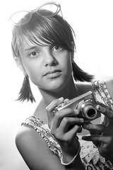 Charlotte 6 (Victoria Hederer Bell) Tags: camera portrait blackandwhite girl sunglasses daughter rogue speedlite flashbender victoriahedererbell