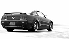 GT5-Ford Mustang Blank (MostlyCarPhoto's) Tags: white black ford 5 rear x route gran mustang gt turismo v8 tuned