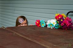 Peeking (Rock Steady Images) Tags: flowers original wedding ontario canada girl canon eos eyes places cameras 7d processing handheld peek peeking 50views lenses alliston 25views bypaulchambers canonef2470mmf28iiusm rocksteadyimages