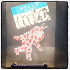 Spacey Sticker (Karol A Olson) Tags: hello art dc washington spaceman decal iphone mynameis instagram
