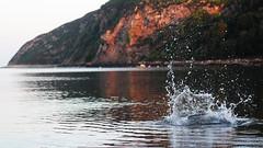 Splash. (_rosscooke_) Tags: ocean sea summer mountain water beauty rock speed canon landscape clarity freeze shutter ripples splash capture rapid speckles 600d