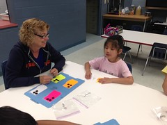 "Teacher Gloria Moyer and BELL participant Aihua work on braille reversals of f, d, j, and h. • <a style=""font-size:0.8em;"" href=""http://www.flickr.com/photos/29389111@N07/9544483662/"" target=""_blank"">View on Flickr</a>"