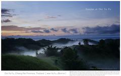 Doi Ya Fu Sunrise (rusamesame) Tags: morning travel blue sun mountain clouds sunrise thailand thai chiang soe rai chiangrai doi yafa yafu