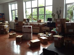 Unpacking - Day 1 (pistachoo) Tags: school work moving classroom boxes shelves unpacking organizing jq