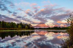 Oxbow reflection (kristenjlr) Tags: reflection sunrise wyoming jacksonhole oxbowbend
