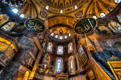 Hagia Sophia (code poet) Tags: travel church museum turkey cathedral istanbul mosque 5d orthodox hagiasophia hdr byzantine 1635mm notconstantinople