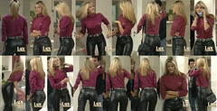 Catherine Fulop (gitblp) Tags: black sexy ass leather shiny pants crotch jeans catherine trousers tight bel leder cuero cuir fulop