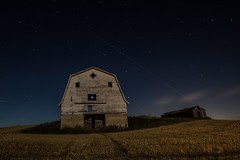 Moon glow (hey ~ it's me lea) Tags: longexposure nightphotography abandoned night barn stars alberta prairie