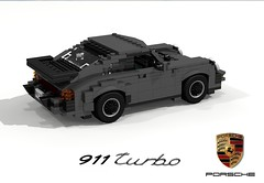 Porsche 911 Turbo (Typ 930) (lego911) Tags: auto classic car germany model lego render tail 911 71 turbo german porsche 1975 70s boxer whale 1970s challenge cad 930 carrera lugnuts spoiler povray moc ldd miniland lego911 super70ssensation