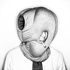 v2 (LukeOlsen) Tags: usa selfportrait oregon portland hoodie cigarette ostrich hood ringflash cancersticks pw selfie cancerstick idontsmoke pocketwizard dieverwandlung abr800 lukeolsen ostrichpillow hoodiething