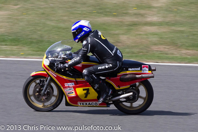 Steve Parrish on Suzuki XR14, Barry Sheen Memorial Parade, Silverstone 2013