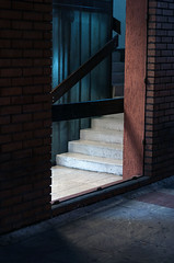 the case of stairs. (Marko Zivkovic Photography) Tags: blue light up stairs case staircase passage