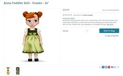 Anna Toddler Doll - Frozen - 16'' - US Disney Store Product Page - Release - 2013-10-28 (drj1828) Tags: anna frozen us toddler doll release disneystore 16inch 2013 productinformation productpage
