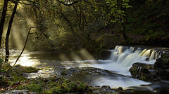 Morning Light (SeanWeeklyImages) Tags: longexposure morning winter sunlight cold water wales forest canon landscape waterfall frost breconbeacons rays hoya waterscape nd400 canon1755mm canon60d