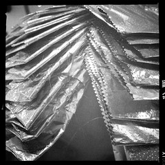 foiled (Joolsptown) Tags: bw me foil highlights salon foiled selfie hipstamatic