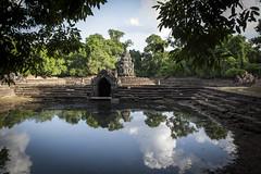 Angkor (oRi0n) Tags: lake reflection lago island temple cambodia khmer buddhism siemreap angkor isola neakpean riflesso jayavarmanvii