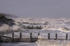 Walcott to bacton waves (The Norfolk Explorer) Tags: red cold wet fog canon big day waves flood destruction norfolk sigma windy damage surge tidal cromer