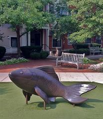 Marsh Passage (ArtFan70) Tags: cambridge sculpture usa fish art statue wales america ma unitedstates massachusetts carp cambridgeport auburnpark kittywales marshpassage