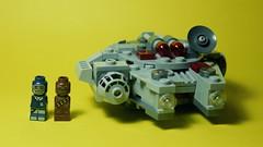 Han, Chewie and the Falcon (R D L) Tags: lego micro chewbacca hansolo milleniumfalcon