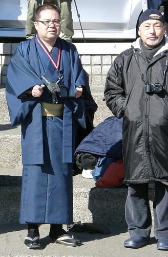 #3806 man in wool kimono