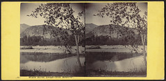 White Horse ledge - from meadows (Boston Public Library) Tags: mountains meadows bostonpubliclibrary bpl stereographs photographicprints