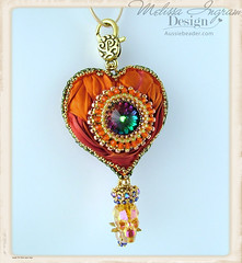 I heart Swarovski Skull  Beads (Social Butterfly Jewellery) Tags: bagcharm handbagcharm melissaingram skulldesign astralpink swarovskiskullbeaddesigns