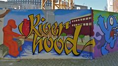 Stadsbaken project : JADE & NOL (Akbar Sim) Tags: streetart holland netherlands graffiti nederland denhaag jade thehague leem nol agga schuttingtaal riverhood akbarsimonse leemmannetje akbarsim stadsbaken