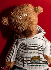 I am Valentin (SK snapshots) Tags: bear red rot nikon friend teddy bears portrt beast valentin beasts kuscheltier d90 sigikid achgood achgoood sksnapshots valentinachgood