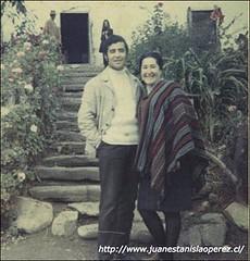 Con Margot Loyola, viaje de estudio por la Universidad de Chile al Valle del Choapa. Salamanca, IV Región